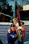 "One Life To Live Tyler Noyes ""CJ Roberts"" poses with castmate Robin Griggs ""Stephanie Hobart"" while sking at Hunter Mountain, New York with other OLTL castmates. (Photo by Sue Coflin/Max Photos)"