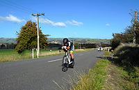 Noah Costar (Te Awamutu Sports Cycling Club, under-19) - Time trials. Time trials on Day One of the 2018 NZ Age Group Road Cycling Championships in Carterton, New Zealand on 20 April 2018. Photo: Dave Lintott / lintottphoto.co.nz