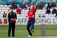 Simon Harmer of Essex in bowling action during Essex Eagles vs Gloucestershire, Royal London One-Day Cup Cricket at The Cloudfm County Ground on 7th May 2019