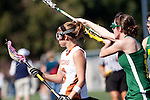 Santa Barbara, CA 02/13/10 - Stephanie Roberts (Texas #6) and Kerry Erwin (Oregon #11) in action during the Texas-Oregon game at the 2010 Santa Barbara Shoutout, Texas defeated Oregon 11-9.