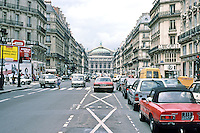 Paris: Avenue de L'Opera. Looking toward Opera House. Photo '87.