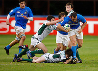 Photo: Richard Lane/Richard Lane Photography. Ireland U20 v Italy U20. Semi Final. 18/06/2008. Italy's Tommaso D'Apice attacks.