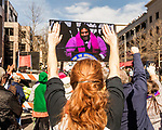 February 11, 2017. Raleigh, North Carolina.<br /> <br /> A  supporter listens to Rev. Dr. William J. Barber close out the HKONJ People's Assembly with a fiery speech about standing up to power. <br /> <br /> Thousands gathered in downtown Raleigh for the annual HKONJ People's Assembly, a civil rights march tied to the Moral Monday movement. Supporters from around the state gathered to march and speak out against nationwide attacks on civil rights and the Trump administration.<br /> <br /> Jeremy M. Lange for The New York Times