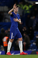 Alvaro Morata of Chelsea waves at the home fans as he leaves the pitch after the final whistle during Chelsea vs West Bromwich Albion, Premier League Football at Stamford Bridge on 12th February 2018