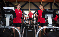 Denver, CO - September 11, 2017: The USWNT trains in preparation for their friendly against New Zealand.