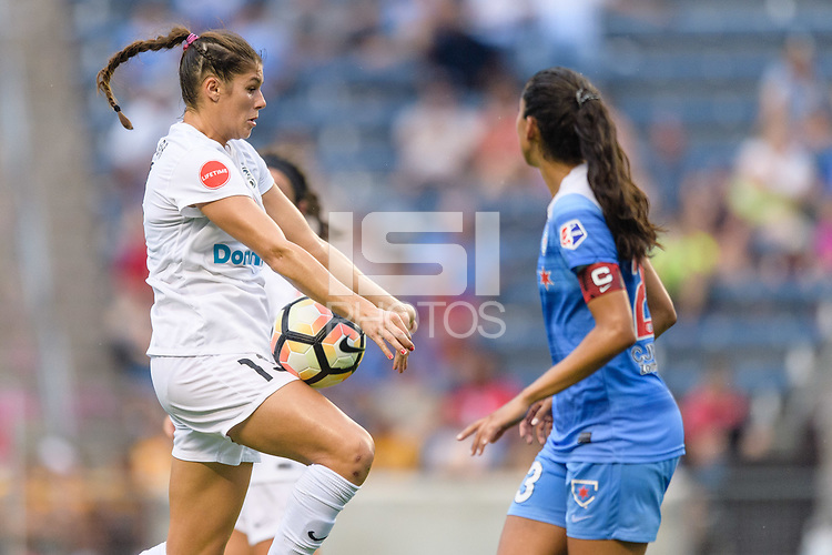 Bridgeview, IL - Sunday August 20, 2017: Brittany Taylor during a regular season National Women's Soccer League (NWSL) match between the Chicago Red Stars and FC Kansas City at Toyota Park.