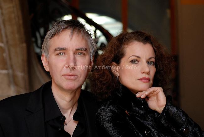 Swedish writers Alexandra Coelho Ahndoril and Alexander Ahndoril, writing together and signing Lars Kepler.