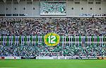 Stockholm 2014-05-24 Fotboll Superettan Hammarby IF - Varbergs BoIS FC  :  <br /> Hammarbys supportrar med ett tifo innan matchen<br /> (Foto: Kenta J&ouml;nsson) Nyckelord:  Superettan Tele2 Arena HIF Bajen Varberg BoIS supporter fans publik supporters