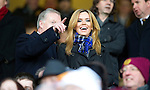 Motherwell v St Johnstone...28.01.12  .Maria Fowler in the stands to watch boyfriend Lee Croft with Saints Director Gary Whyte.Picture by Graeme Hart..Copyright Perthshire Picture Agency.Tel: 01738 623350  Mobile: 07990 594431