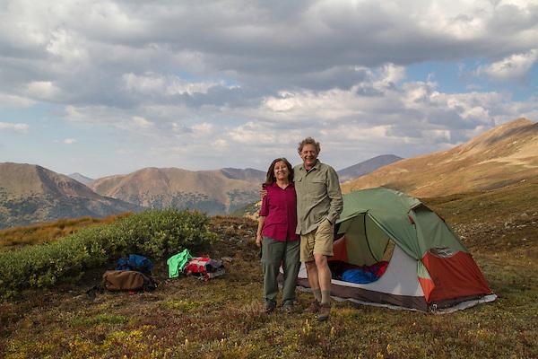 Campsite above Loveland Pass, Colorado.
