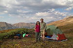 Campsite above Loveland Pass, Colorado.
