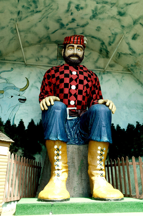 Minnesota Lake Country:.Paul Bunyan sculpture in Brainerd..Photo copyright Lee Foster, www.fostertravel.com..Photo #: mnlake103, 510/549-2202,.lee@fostertravel.com