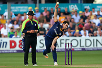 Ryan ten Doeschate in bowling action for Essex during Essex Eagles vs Surrey, NatWest T20 Blast Cricket at The Cloudfm County Ground on 7th July 2017