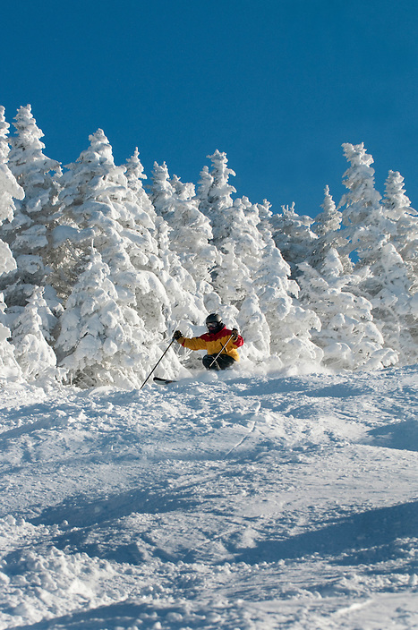 Skiing at Pico, Vermont.