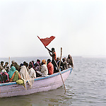 Hindu devotees bathe in the Ganges during the Kumbh Mela, India 2013.