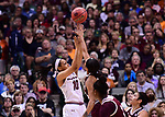 DALLAS, TX - APRIL 2:  Allisha Gray #10 of the South Carolina Gamecocks shoots during the 2017 Women's Final Four at American Airlines Center on April 2, 2017 in Dallas, Texas.  (Photo by Ben Solomon/NCAA Photos via Getty Images)