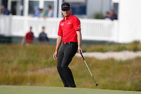 Zach Johnson (USA) reacts to missing a putt on the 15th hole during the second round of the 118th U.S. Open Championship at Shinnecock Hills Golf Club in Southampton, NY, USA. 15th June 2018.<br /> Picture: Golffile | Brian Spurlock<br /> <br /> <br /> All photo usage must carry mandatory copyright credit (&copy; Golffile | Brian Spurlock)