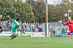 08.09.2018, pk-Sportpark, Cloppenburg, GER, FSP, SV Meppen vs Werder Bremen <br /> <br /> DFL REGULATIONS PROHIBIT ANY USE OF PHOTOGRAPHS AS IMAGE SEQUENCES AND/OR QUASI-VIDEO.<br /> <br /> im Bild / picture shows<br /> Caram Carneiro Alves (Werder Bremen U19 #53) mit Torschuss, <br /> <br /> Foto &copy; nordphoto / Ewert