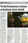 Yorkshire Post.Life & Style section.Page 39, 15th June 2011.The Tea Experience