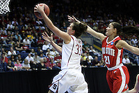 BERKELEY, CA - MARCH 30: Jillian Harmon beats a defender to the rim for two during Stanford's 84-66 win against the Ohio State Buckeyes on March 28, 2009 at Haas Pavilion in Berkeley, California.