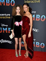 """LOS ANGELES, CA. March 11, 2019: Nico Parker & Thandie Newton at the world premiere of """"Dumbo"""" at the El Capitan Theatre.<br /> Picture: Paul Smith/Featureflash"""