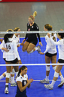 15 December 2007: Stanford Cardinal Gabi Ailes (9) during Stanford's 25-30, 26-30, 30-23, 30-19, 8-15 loss against the Penn State Nittany Lions in the 2007 NCAA Division I Women's Volleyball Final Four championship match at ARCO Arena in Sacramento, CA.