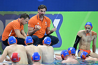 VAN DER MEER Harry coach of the Netherlands <br /> Budapest 14/01/2020 Duna Arena <br /> ROMANIA (white caps) Vs. NETHERLANDS (blue caps) Men  <br /> XXXIV LEN European Water Polo Championships 2020<br /> Photo  © Andrea Staccioli / Deepbluemedia / Insidefoto