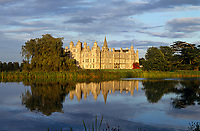Burghley House reflected in the lake