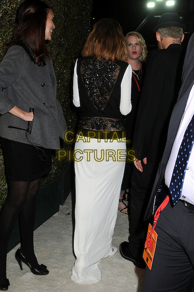 Nicole Richie Madden.21st Annual Elton John Academy Awards Viewing Party held at West Hollywood Park, West Hollywood, California, USA..February 24th, 2013.oscars full length dress black white beads beaded back behind rear .CAP/ADM/BP.©Byron Purvis/AdMedia/Capital Pictures.