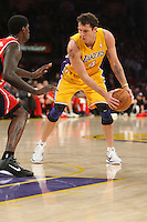 02/22/11 Los Angeles, CA: Los Angeles Lakers small forward Luke Walton #4 during an NBA game between the Los Angeles Lakers and the Atlanta Hawks at the Staples Center. The Lakers defeated the Hawks 104-80.