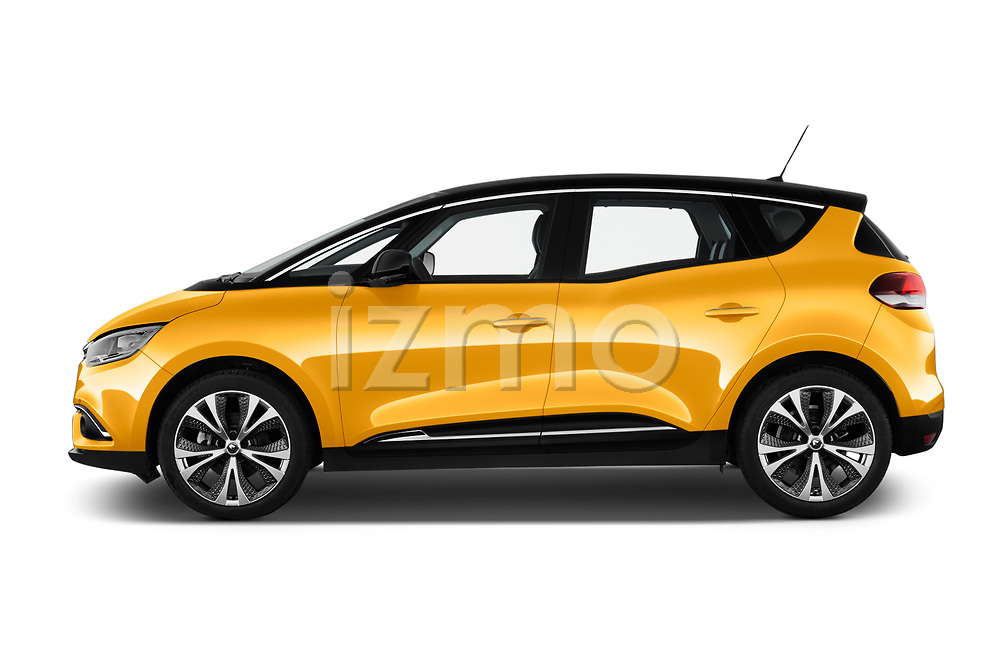 Car Driver side profile view of a 2017 Renault Scenic Intens 5 Door Minivan Side View