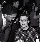 Wynton Marsalis and Marshall Crenshaw attend a party for Stereo Review Magazine on January 14, 1983 in New York City.