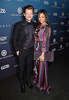 LOS ANGELES, CA - JANUARY 05: Jared Lehr (L) and Cisely Saldana attend Michael Muller's HEAVEN, presented by The Art of Elysium at a private venue on January 5, 2019 in Los Angeles, California.<br /> CAP/ROT/TM<br /> ©TM/ROT/Capital Pictures