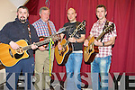 CHARITY: Playing at the fundraising concert for Nathan O'Brien in the Community Centre Abbeydorney,on Friday l-r: Richard O'Brien, Mike Sheehan, Tom and Paulie O'Brien (Abbeydorney)................................... ....