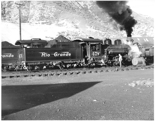 D&amp;RGW #476 in Durango yard awaiting assignment.<br /> D&amp;RGW  Durango, CO