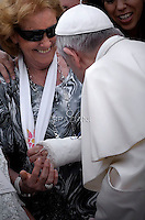 Pope Francis  during his weekly general audience in St. Peter square at the Vatican, Wednesday.September 2, 2015.