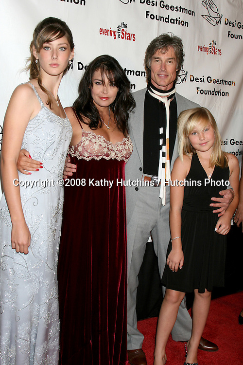 Creason Moss , Devin DeVasquez,  Ronn Moss  , and Calee Moss arriving at the Desi Geestman Foundataion Annual Evening with the Stars at the Universal Sheraton Hotel in Los Angeles, CA.October 11, 2008.©2008 Kathy Hutchins / Hutchins Photo...                .