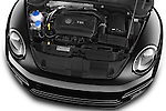 Car Stock 2014 Volkswagen Beetle Sport R-Line 3 Door Hatchback 2WD Engine high angle detail view