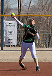 March 7, 2012:   Sacramento State Hornets shortstop Jessica Abelia throws to first against the Nevada Wolf Pack during their NCAA softball game played at Christina M. Hixson Softball Park on Wednesday in Reno, Nevada.