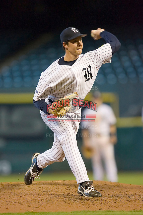 Matt Evers #12 of the Rice Owls in action versus the Baylor Bears in the 2009 Houston College Classic at Minute Maid Park March 1, 2009 in Houston, TX.  The Owls defeated the Bears 8-3. (Photo by Brian Westerholt / Four Seam Images)