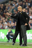 Manchester City manager Josep (Pep) Guardiola during Tottenham Hotspur vs Manchester City, Premier League Football at Wembley Stadium on 14th April 2018