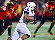 College Park, MD - NOV 25, 2017: Penn State Nittany Lions running back Saquon Barkley (26) runs the football during game between Maryland and Penn State at Capital One Field at Maryland Stadium in College Park, MD. (Photo by Phil Peters/Media Images International)