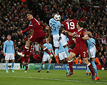Sadio Mane of Liverpool scores the third goal during the Champions League Quarter Final 1st Leg, match at Anfield Stadium, Liverpool. Picture date: 4th April 2018. Picture credit should read: Simon Bellis/Sportimage