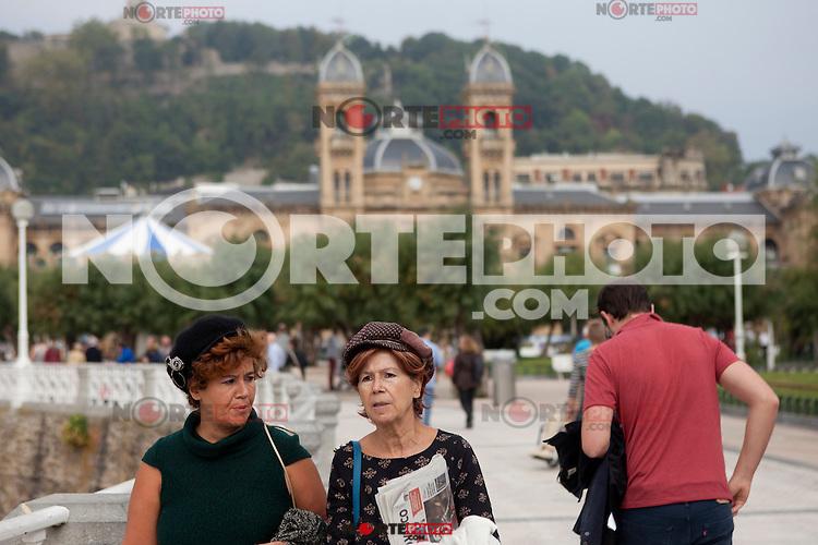 Daily life San Sebastian (North Spain) during the 62st San Sebastian Film Festival. September 26, 2014. (ALTERPHOTOS/Caro Marin) /NortePhoto.com