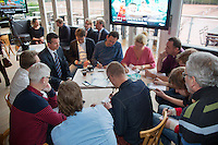 09-01-14, Netherlands, Rotterdam, TC Kralingen, ABNAMROWTT Press-conference,   Richard Krajicek gives interview<br /> Photo: Henk Koster