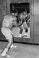 Nov 1st,1972. Former World Heavyweight American boxer Joe Frasier, nicknamed Smokin' Joe, during his training program. Among other things, Frazier is famous for his trilogy of fights with Muhammad Ali, of which their third bout, the Thrilla in Manila, has been considered by many to be boxing's greatest bout ever.