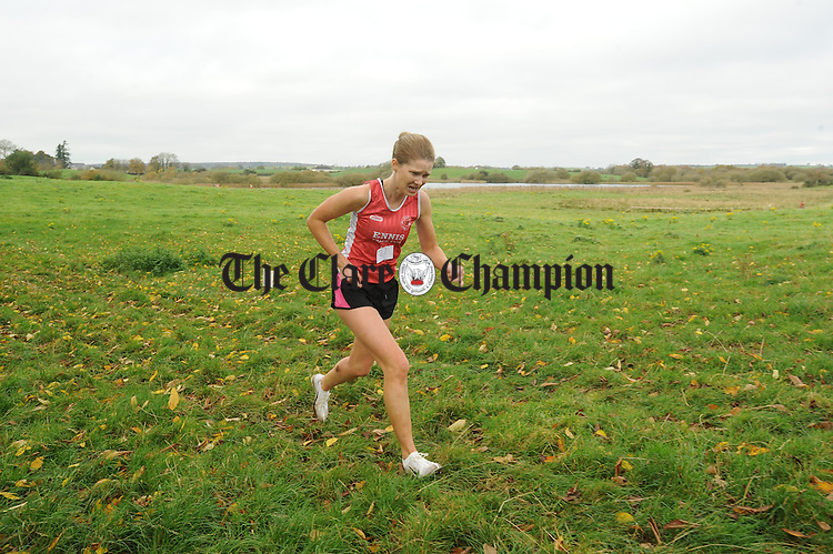 Ladies Winner Cushla Brid Hehir competing in the Clare senior Cross Country finals at Rahaline, Newmarket On Fergus. Photograph by John Kelly.