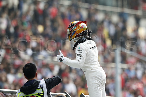 8th April 2017, Shanghai Circuit, Shanghai, China; Chinese Grand Prix Qualifying;  <br /> #44 Lewis Hamilton (GBR, Mercedes AMG Petronas)<br />  winning pole postion
