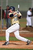 February 27, 2010:  First Baseman T.J. Kuban of West Virginia Mountaineers during the Big East/Big 10 Challenge at Raymond Naimoli Complex in St. Petersburg, FL.  Photo By Mike Janes/Four Seam Images