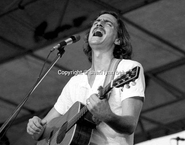 James Taylor at the Sheep Meadow in Central Park, 1979